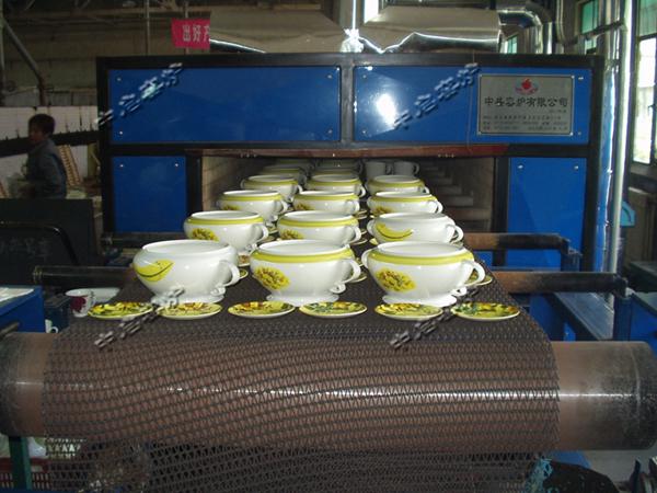 唐山红玫瑰瓷业陶烤花网带窑